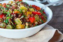 Salade de Lentilles et Tomates aux Herbes Fraîches