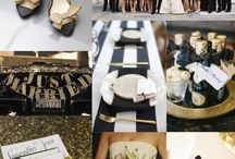Black and gold wedding  / by Crystal Clanton