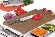 Unikia Chop n Serve Kitchen Innovations Chopping Board & Integrated Serving Dish