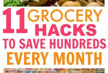 Grocery hacks / Grocery tips and hacks to help families save money and time.  How to save money on groceries