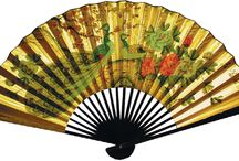 Decorative Chinese Wall Fans / Beautifully made and Hand-painted