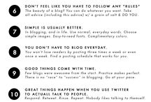 Blog and Social media tips