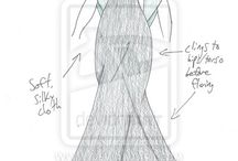 Šaty-nákresy