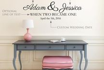 Custom Wedding Wall Decal Quotes