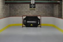 Synthetic ice, hockey rink
