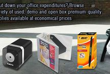 Used / Demo / Open / Are you looking to cut down your #office #expenditures? Browse through our wide variety of used, demo and open box premium-quality #equipments and #supplies available at #economical #prices. http://goo.gl/5AuMPP