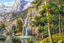 Иллюстрации: природа, пейзажи