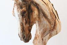 wooden Art sculptures