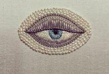 Olho bordado