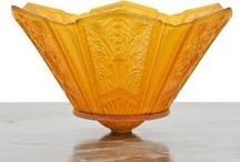 AMBER AND YELLOW DEPRESSION GLASS
