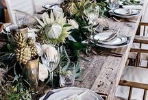 Palm & Gold / Palm & Gold Wedding theme with palm print stationery and beautiful glasshouse venues. Bringing a Tropical theme to your wedding, whatever the weather!