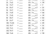 Times Tables Sheets