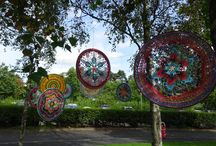 Yarndale 2016 Yarnbombing / Beautiful outdoor yarny decorations at Yarndale 2016