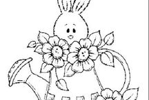 Bunnies coloring book / Bunnies coloring pages