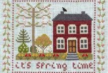 Houses and Cottages in Cross Stitch or Embroidery