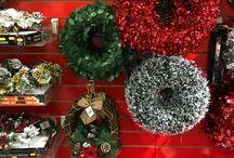 Retail Christmas Displays - Slatwall Panels - Coloured Slatwall Boards / Red Slatwall panels perfect for Christmas Displays