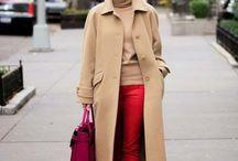 Бежевое пальто луки