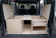 Mini van camping