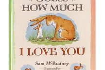 Clothworks 'Guess How Much I Love You' / This is a classic book written by Sam McBratney - a tale of two Nutbrown Hares describing their love for one another. How does a parent measure their feelings to their child? In this tale; as long as their arms can reach, or as high as their legs can hop, 'I love you right up to the moon and back.