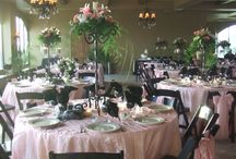 Tables and Centerpieces / Love a nice table setting for a wedding reception!