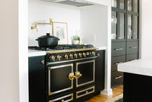Black Stoves / Black statement stoves in the kitchen. Vintage or modern.