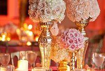 Hochzeit weiß/apricot