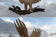 Wood Animal Sculptures