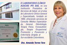 Laboratorio Cliníco Acacias IPS SAS / El LABORATORIO CLÍNICO ACACIAS IPS SAS, es una Institución Prestadora de Servicios de Salud, en el área de Laboratorio Clínico General y Especializado, fundado en 1990, ofreciendo   servicios de Consulta Médica Especializada, General, Odontología, Terapia Física, Fonoaudiología, Terapia Ocupacional,  Promoción y Prevención y Enfermería  dirigida  al Suroccidente Colombiano.