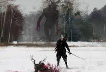 Fantasy art / arts about fantastic creatures, fantasy world, digital realistic art, traditional art