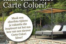 Carte Colori Facebook Vakantiefotowedstrijd / In de zomer van 2014 organiseerde Carte Colori een vakantiefotowedstrijd op Facebook. Met het insturen van een mooie vakantiefoto die inspireert tot het maken van een nieuwe Carte Colori kleur konden deelnemers kans maken op een heerlijk 3-daagse verwenweekend in oktober voor 2 personen bij Borgo Vallone.