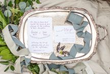 Winter Wooded Elopement / Gown: Fabulous Frocks Bridal Shreveport Photo: Brytny.com Styling: Brianna Belton Deisgn Art: All Things Taylor Made Cake: Cravings, Cakes and Comfort Foods