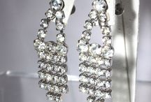 White Rhinestone Jewelry / Vintage Jewelry done in white rhinestones. Clear rhinestones are often referred to as white.