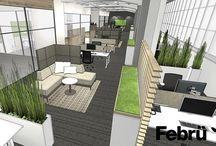 Büro einrichten / Ob Empfangsbereich, Foyer, Open Space Büro, Teambüro, Einzelbüro, Chefbüro oder Cafeteria: mit der richtigen Büroraumplanung sorgen Sie dafür, das sich die Mitarbeiter wohlfühlen.