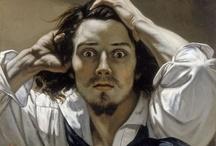 Gustave Courbet / (1819-1877) malarz francuski, realista. Zajmował się głównie malarstwem rodzajowym, portretowym, pejzażowym oraz martwą naturą.