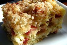 Strudel rhubarb cake