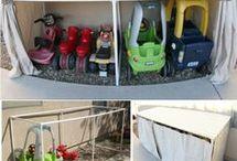 Kiddies outside things