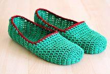Pantufas de crochet