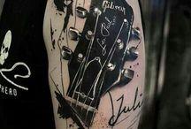 tatouage guitare