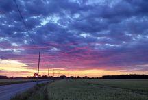 sunrise and sunset / sunrise and sunset