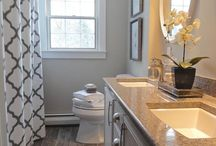 Master bathroom spaces