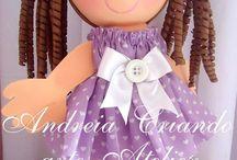 Criando arte com a Andreia Ribeiro / artigo para decoração ,kits de higiene,lembrancinha ,bonecas fofuchas decorativa!!!!