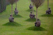 Skulpturer, lightart mv.