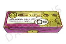 SEED / 人氣日本化妝品牌Heroine Make與日本隱形眼鏡公司SEED合作推出不同款色彩色隱形眼鏡,以Heroine Make 1 day UV和Eye coffret 1 day UV最為熟悉。