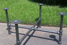 industrial legs table pipe