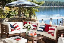 Stars & Stripes / Celebrate America with a patriotic backyard barbecue, fun themed food and drink recipes, red, white and blue decor and fun activities to celebrate Memorial Day, Fourth of July and Labor Day.