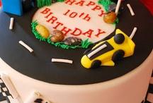 Auto, planes, tractor, vehicle cakes