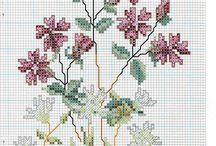Схемы вышивки цветов крестиком / Подборка отличных схем для вышивки цветов крестиком