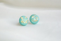 Polymer clay earrings :3 MINT