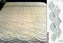 Coperte cotone uncinetto