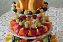 díszes gyümölcstál